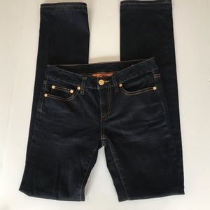 Tory Burch Dark Denim Straight Leg Jeans Sz 24